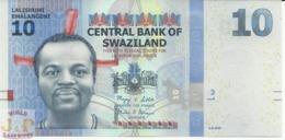 SWAZILAND 10 EMALANGENI 2010 PICK 36a UNC - Swaziland