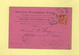 Type Mouchon Sur Carte Association Stenographique Unitaire - 4 Sept 1901 - 1877-1920: Période Semi Moderne