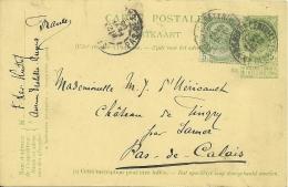 België Belgique 1905 Anvers >> Samer Pas-de-Calais FRA - AK [1871-09]