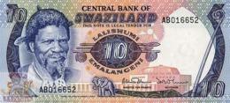 SWAZILAND 10 EMALANGENI 1985 PICK 10c UNC - Swaziland