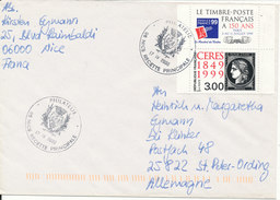 France Cover Sent To Germany Nice 17-4-2000 - France