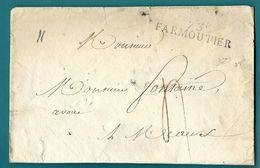 Seine Et Marne - Farmoutier Pour Meaux. Enveloppe. MP 73/FARMOUTIER (Indice 10) - Marcophilie (Lettres)