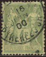 France 1883 Yv. N°82 - 1F Olive Clair - Oblitéré - 1876-1898 Sage (Type II)