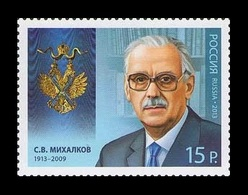 Russia 2013 Mih. 1969 Poet Sergey Mikhalkov MNH ** - Unused Stamps