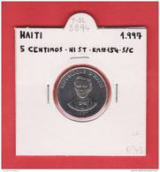 HAITI   5  CENTIMOS  1.997  NI  ST    KM#154   SC/UNC    DL-8894 - Haïti