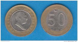 TURQUIA  50  NEW  KURUS  2.005  Bimetalica  KM#1168   MBC/VF   T-DL-10.550 - Turkey