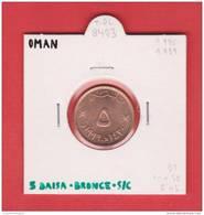 OMAN    5 BAISA  1975-1989    BRONCE  KM#50   SC/UNC      T-DL-8403 - Omán