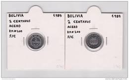 BOLIVIA  2 Centavos  Acero/Steel  KM#200  SC/UNC 1.987       T-DL-6845 - Bolivia