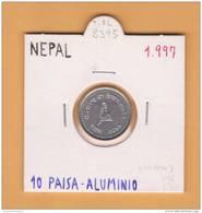 NEPAL   10  PAISA  Aluminio  1.997     KM#1014.3   SC/UNC      DL-8395 - Népal
