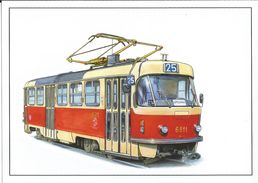 Picture Postcard 861 Czech Republic CKD Tramway 2015 - Tramways