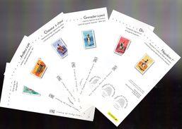 """FRANCE 2004 : 6 Fascicules Publicitaires Avec Photo Du Timbre + Cachet 1er Jour """" NAPOLEON ET LA GARDE IMPERIALE """" - Napoléon"""