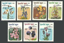 KAMPUCHEA 1985 FLOWERS IRIS CROCUS PANSY PRIMROSE LILY SET MNH - Kampuchea
