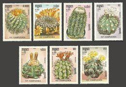 KAMPUCHEA 1986 FLOWERS CACTI SET MNH - Kampuchea