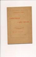 Fascicule De L' établissement Thermal Chartreux Les Bains à CHORANCHE Les Bains Près De Pont En Royans Année 1898 - Rhône-Alpes