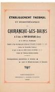 Dépliant ( En 4 Volets ) De L' établissement Thermal   De CHORANCHE Les Bains Près De Pont En Royans Année 1902 - Rhône-Alpes