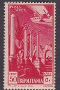 Italy-Colonies And Territories-Tripolitania A9  1931 Air Leptis Magna Ruines,50c Carmine,mint Hinged - Tripolitania
