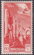 Italy-Colonies And Territories-Tripolitania A10  1931 Air Leptis Magna Ruines,60c Orange,mint Hinged - Tripolitania