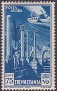 Italy-Colonies And Territories-Tripolitania A11  1931 Air Leptis Magna Ruines,75c Blue,mint Hinged - Tripolitaine
