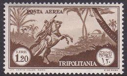 Italy-Colonies And Territories-Tripolitania A14  1931 Air Horseman, 1 .20 Brown, Mint Hinged - Tripolitania