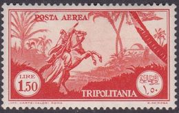 Italy-Colonies And Territories-Tripolitania A15  1931 Air Horseman, 1 .50 Orange, Mint Hinged - Tripolitania