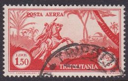 Italy-Colonies And Territories-Tripolitania A15  1931 Air Horseman, 1 .50 Orange, Used - Tripolitania