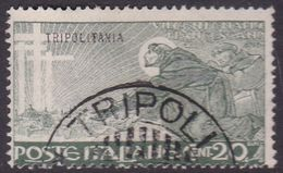 Italy-Colonies And Territories-Tripolitania S28 1926 St Francis Of Assis, 20c Green,used - Tripolitania