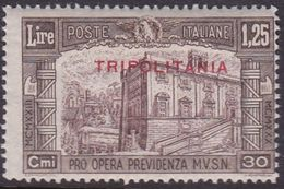 Italy-Colonies And Territories-Tripolitania S71 1930 3rd National Defence,1.25 + 50c Brown Mint Never Hinged - Tripolitania