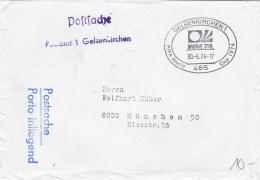 Germany Postsache Gelsenkirchen 1974 World Cup FIFA Football Germany   (T16-38) - Coppa Del Mondo