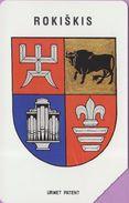 Télécarte Lituanie °° Urmet 35 - Blason Rokiskis-50 - Lituanie