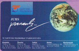 Télécarte Lituanie °° Urmet 21 - Jums Pasanbi - Planète -25 - Lituanie