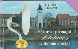 Télécarte Lituanie °° Urmet 18 - Kaunas - 70 Mety Pirmajai Radiofono -25 - Lituanie