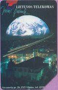 Télécarte Lituanie °° Urmet 19 - Planète Terre - Vilnius -25 - Lituanie