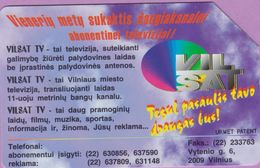 Télécarte Lituanie °° Urmet 31 - Vilbat TV - VilSat-25 - Lituanie
