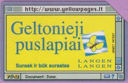 Télécarte Lituanie °° Urmet 33 - Geltonieji Puslapiai - Langen -50 - Lituanie