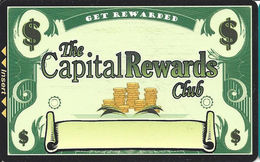 Carson Station & Pinon Plaza Casinos - Carson City, NV - Blank Slot Card - 2 Logos On Reverse - Casino Cards
