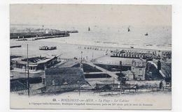 (RECTO / VERSO) BOULOGNE SUR MER EN 1934 - N° 69 - LA PLAGE - LES CABINES - CPA VOYAGEE - Boulogne Sur Mer