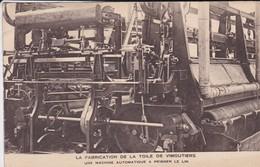 61----VIMOUTIERS--la Fabrication De La Toile De Vimoutiers--une Machine Automatique A Peigner Le Lin--voir 2 Scans - Vimoutiers