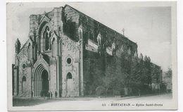 (RECTO / VERSO) MONTAUBAN - N° 111 - EGLISE SAINT ORENS - TIMBRES - LEGER PLI ANGLE HAUT A GAUCHE - CPA VOYAGEE - Montauban