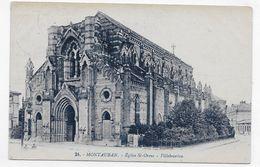 (RECTO / VERSO) MONTAUBAN EN 1924 - N° 24 - EGLISE SAINT ORENS - BEAU CACHET - CPA VOYAGEE - Montauban