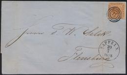 Altdeutschland Schleswig Brief EF Dänemark 4 Stemel 11 Kappeln Schlei  Flensburg - Schleswig-Holstein