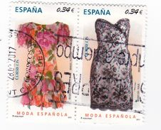 2 TIMBRES - 0,34 Euros - MODA ESPAGNOLE - 1931-Aujourd'hui: II. République - ....Juan Carlos I