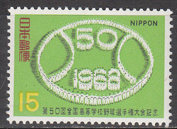 JAPAN    SCOTT NO. 963     MNH      YEAR  1968 - 1926-89 Keizer Hirohito (Showa-tijdperk)