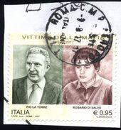 Italia Italy Italie 2017 - Vittime Della Mafia - 6. 1946-.. Repubblica