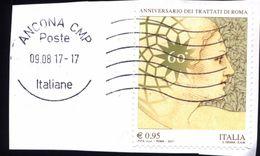 Italia Italy Italie 2017 - 60º Anniversario Dei Trattati Di Roma - 6. 1946-.. Repubblica