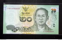 Thailand Banknote 20 Baht Series 16 P#123 SIGN#85 Replacement 1Sพ UNC - Thailand