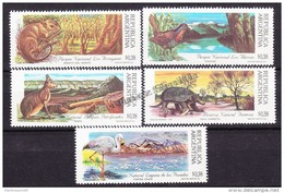Argentina 1992 Yvert 1776- 80,  Argentina National Parks - MNH - Ongebruikt