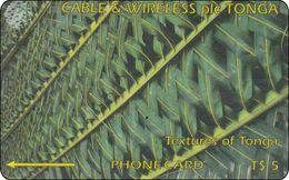 Tonga Phonecard Textures Of  Tonga - Tonga