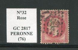 FRANCE- Y&T N°32- GC 2817 (PERONNE 76) - Marcophilie (Timbres Détachés)