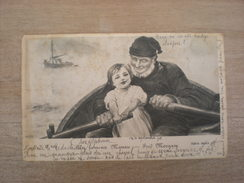 Un Fameux Mousse, Fred Morgany, Série Riche 38, 1901, Timbre (K2) - Peintures & Tableaux