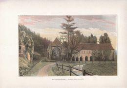 1900 - Phototypie Couleur - Radepont (Eure) - L'abbaye De Fontaine-Guérard - FRANCO DE PORT - Old Paper